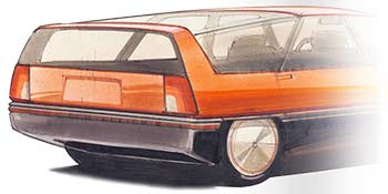 transportation design - station wagon car sketch