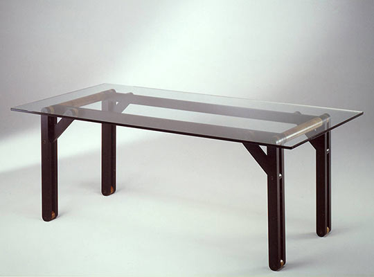 crystal top table