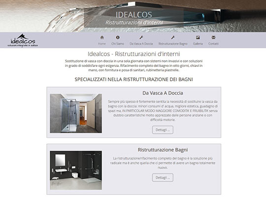 Web Design - Idealcos website